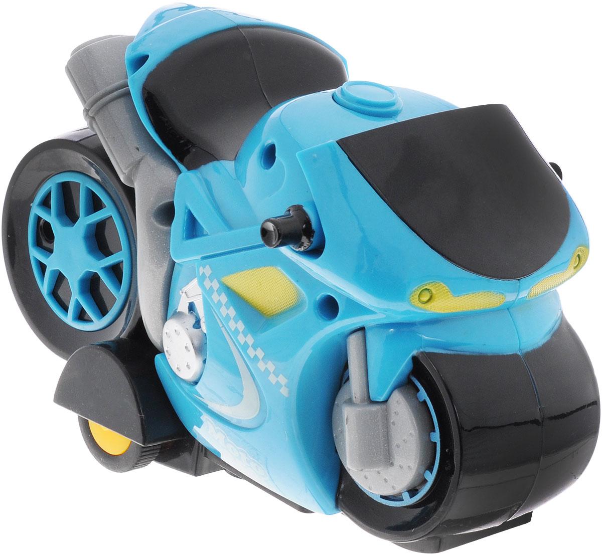 """Мотоцикл на радиоуправлении """"Мотокросс"""" идеально подходит для маленьких любителей скорости! Игрушка управляется с удобного музыкального пульта с двумя кнопками. На пульте всего две кнопки - музыкальная и движение вперед-назад. При движении мотоцикла, загорается подсветка. Эта забавная игрушка обязательно вызовет восторг и бурю эмоций у вашего маленького гонщика. Такая игрушка поможет малышу развить цветовое восприятие, мелкую моторику рук, координацию движений, фантазию и воображение. мотоцикл разнообразит игровые ситуации и откроет малышу новые сюжеты. Не упустите шанс порадовать своего ребенка замечательным подарком! Для работы мотоцикла требуются 3 батарейки типа АА (не входят в комплект). Для работы пульта требуются 2 батарейки типа АА (не входят в комплект)."""