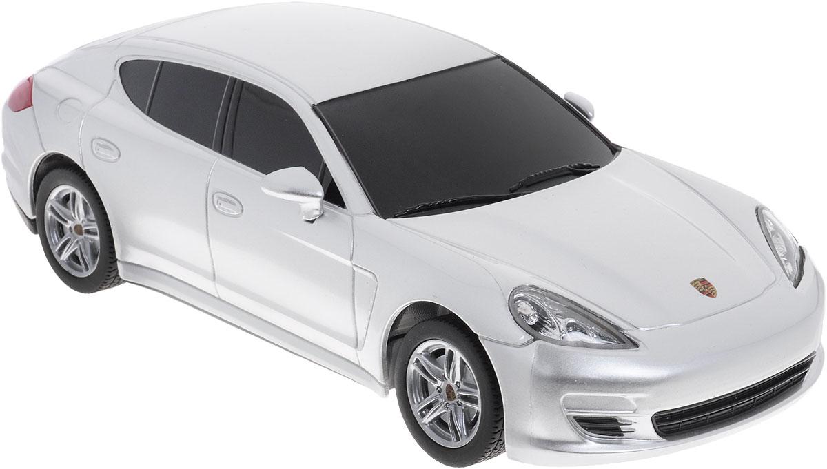 Rastar Радиоуправляемая модель Porsche Panamera цвет серебристый масштаб 1:24 rastar 1 24 porsche 918 spyder серебро 71400