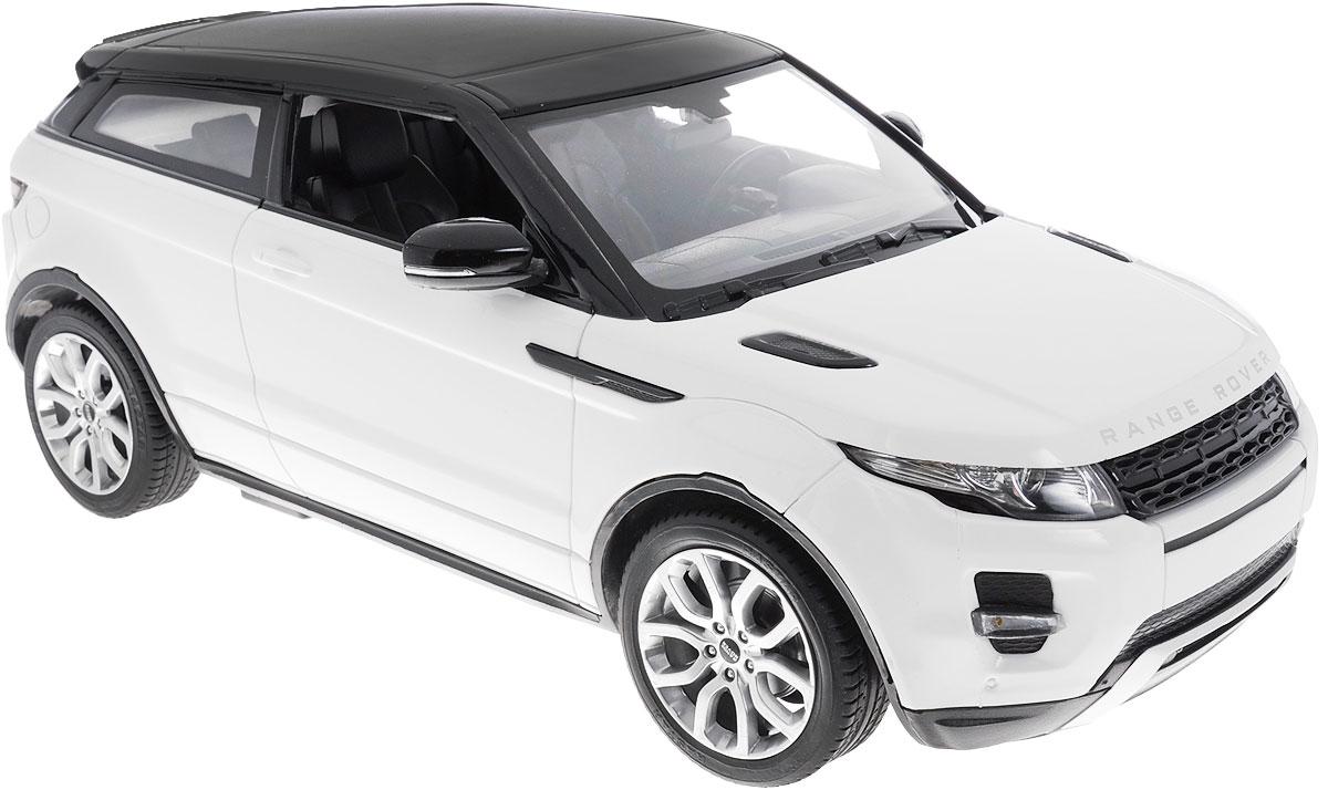 """Радиоуправляемая модель Rastar """"Range Rover Evoque"""" станет отличным подарком любому мальчику! Все дети хотят иметь в наборе своих игрушек ослепительные, невероятные и модные автомобили на радиоуправлении. Тем более, если это автомобиль известной марки с проработкой всех деталей, удивляющий приятным качеством и видом. Одной из таких моделей является автомобиль на радиоуправлении Rastar """"Range Rover Evoque"""". Это точная копия настоящего авто в масштабе 1:14. Возможные движения: вперед, назад, вправо, влево, остановка. Пульт управления выполнен в виде полнофункционального руля с переключателем передач, кнопками акселератора, тормоза, клаксона. При повороте руля возникает звуковой эффект ритмичного тиканья, и машина поворачивает. При нажатии на клаксон раздается звуковой сигнал. Пульт управления работает на частоте 40 MHz. Для работы машины необходимы 5 батареек типа АА (не входят в комплект). Для работы пульта управления необходимы 4 батарейки типа..."""