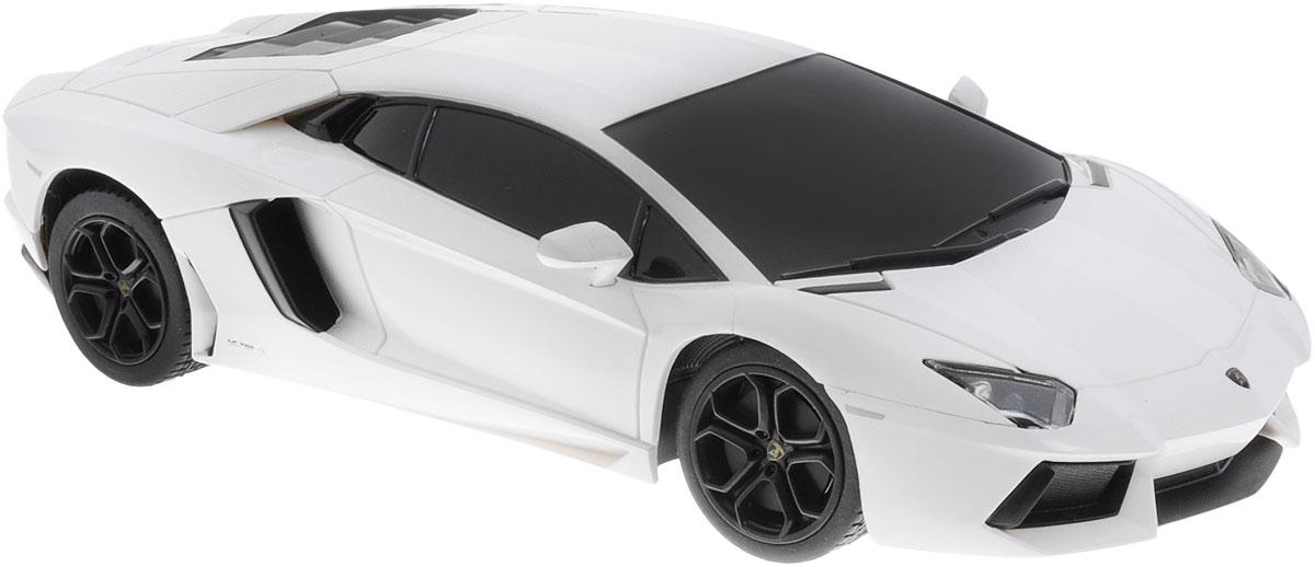 """Если вы хотите почувствовать настоящую скорость, плавность и грациозность радиоуправляемая модель Rastar """"Lamborghini Aventador LP700-4"""" обязательно придется вам по душе! Тем более, если это автомобиль известной марки с проработкой всех деталей, удивляющий приятным качеством и видом. Машина является точной копией настоящего автомобиля в масштабе 1:24. Радиоуправляемая модель Rastar """"Lamborghini Aventador LP700-4"""" оснащена прорезиненными шинами. Движения: вперед-назад, поворот направо-налево, стоп. Имеются световые эффекты. Пульт управления работает на частоте 27 MHz. Необходимо купить 5 батареек напряжением типа АА (не входят в комплект)."""