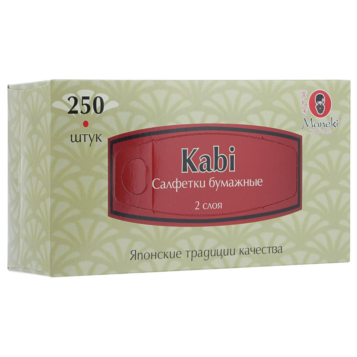 Салфетки бумажные Maneki Kabi, двухслойные, 21 х 19,6 см, 250 штSC-FM20104Универсальные двухслойные салфетки Maneki Kabi выполнены из высококачественного целлюлозного сырья. Салфетки подходят для косметического, санитарно-гигиенического и хозяйственного назначения. Изделия обладают хорошими впитывающими свойствами. Салфетки имеют мягкую и нежную текстуру. При извлечении из коробки салфетки не рвутся. Размер салфеток: 21 х 19,6 см.