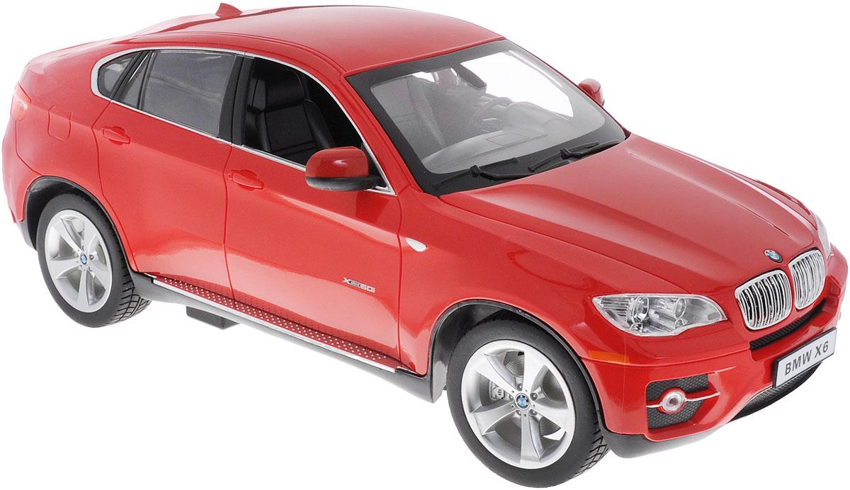 """Радиоуправляемая модель Rastar """"BMW X6"""" станет отличным подарком любому мальчику! Все дети хотят иметь в наборе своих игрушек ослепительные, невероятные и модные автомобили на радиоуправлении. Тем более, если это автомобиль известной марки с проработкой всех деталей, удивляющий приятным качеством и видом. Одной из таких моделей является автомобиль на радиоуправлении Rastar """"BMW X6"""". Это точная копия настоящего авто в масштабе 1:14. Автомобиль обладает неповторимым провокационным стилем и спортивным характером. Потрясающая маневренность, динамика и покладистость - отличительные качества этой модели. Возможные движения: вперед, назад, вправо, влево, остановка. При движении загораются фары и стоп-сигналы. Для работы игрушки необходимы 5 батареек типа АА (не входят в комплект). Для работы пульта управления необходима 1 батарейка типа """"Крона"""" (не входит в комплект)."""