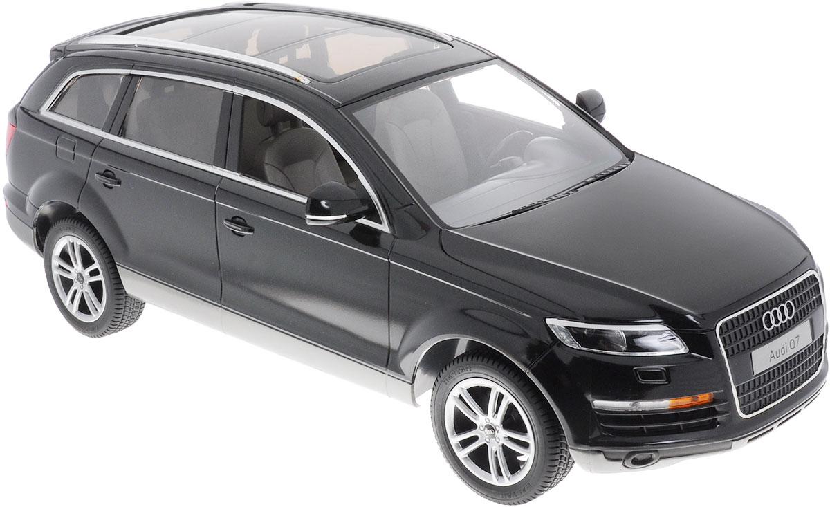 Rastar Радиоуправляемая модель Audi Q7 цвет черный масштаб 1:14 машина на радиоуправлении rastar audi a6l 1 14