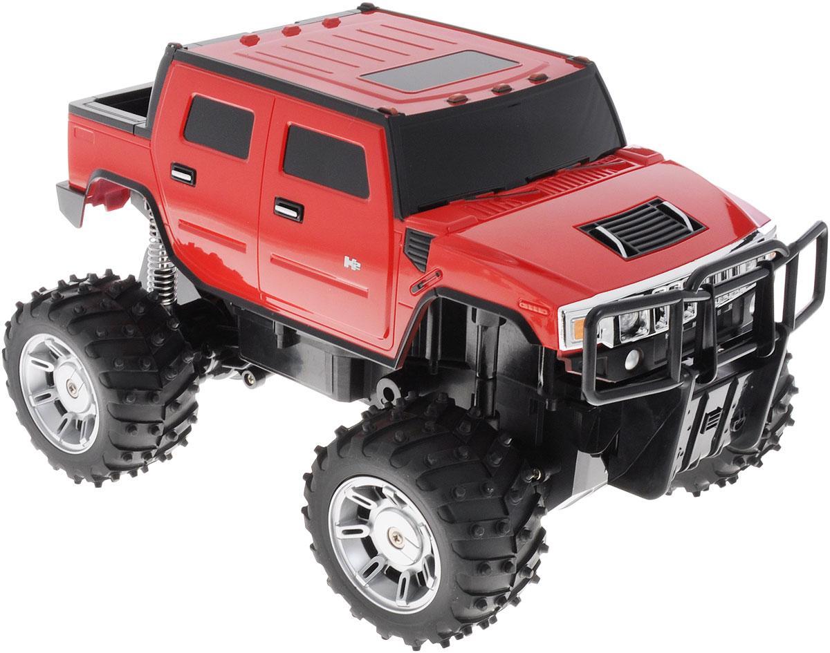 """Радиоуправляемая модель Rastar """"Hummer H2"""" станет отличным подарком любому мальчику! Все дети хотят иметь в наборе своих игрушек ослепительные, невероятные и модные автомобили на радиоуправлении. Тем более, если это автомобиль известной марки с проработкой всех деталей, удивляющий приятным качеством и видом. Одной из таких моделей является автомобиль на радиоуправлении Rastar """"Hummer H2"""". Это точная копия настоящего авто в масштабе 1:14. Автомобиль обладает неповторимым провокационным стилем и спортивным характером. Потрясающая маневренность, динамика и покладистость - отличительные качества этой модели. Возможные движения: вперед, назад, вправо, влево, остановка. При движении загораются фары и стоп-сигналы. Игрушка работает от сменного аккумулятора (входит в комплект). Для работы пульта управления необходима 1 батарейка типа """"Крона"""" (не входит в комплект)."""