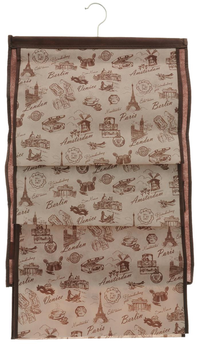 """Кофр для хранения сумок Valiant """"Travelling"""", подвесной, цвет: бежевый, 42 х 72 см"""