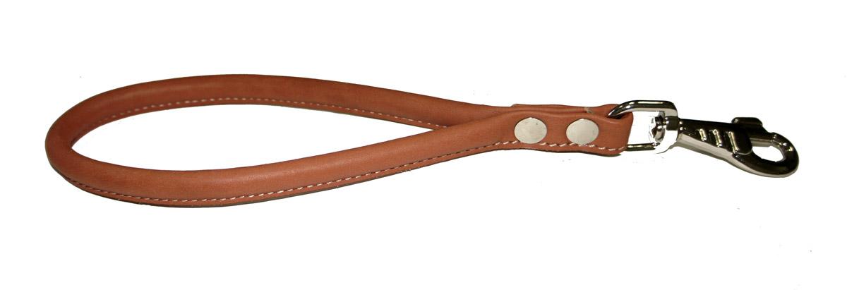 Водилка-петля для собак Аркон Стандарт, круглая, цвет: коньячный, длина 32 см0120710Водилка-петля Аркон Стандарт изготовлена из высококачественного металла и натуральной кожи. Это прочный короткий поводок с мощным карабином. Изделие удобно для городских прогулок, когда необходимо вести большую собаку рядом, также используется для дрессировки собак.Водилка-петля отличается не только исключительной надежностью, но и привлекательным современным дизайном.Длина водилки: 32 см.