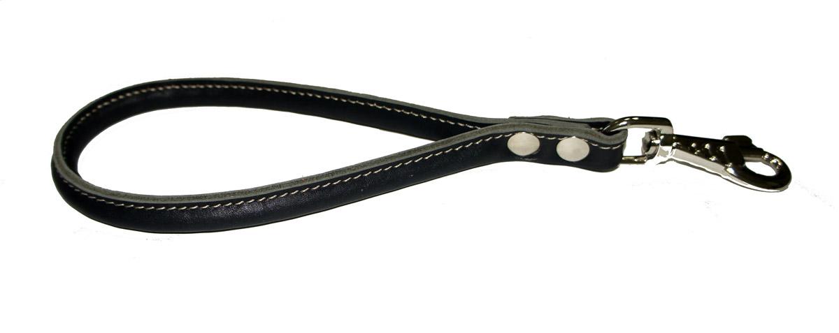 Водилка-петля для собак Аркон Стандарт, круглая, цвет: черный, длина 32 см