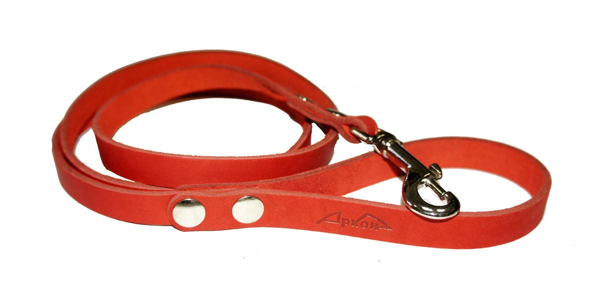 Поводок для собак Аркон Стандарт, цвет: красный, ширина 1,4 см, длина 140 см0120710Поводок для собак Аркон Стандарт изготовлен из высококачественной натуральной кожи. Карабин выполнен из легкого сверхпрочного сплава. Изделие отличается не только исключительной надежностью и удобством, но и привлекательным современным дизайном.Поводок - необходимый аксессуар для собаки. Ведь в опасных ситуациях именно он способен спасти жизнь вашему любимому питомцу. Иногда нужно ограничивать свободу своего четвероногого друга, чтобы защитить его или себя от неприятностей на прогулке. Длина поводка: 140 см.Ширина поводка: 1,4 см.