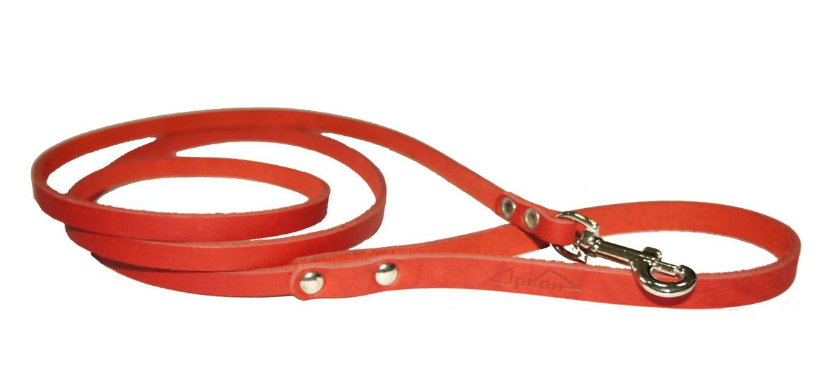 Поводок для собак Аркон Стандарт, цвет: красный, ширина 0,8 см, длина 140 см0120710Поводок для собак Аркон Стандарт изготовлен из высококачественной натуральной кожи. Карабин выполнен из легкого сверхпрочного сплава. Изделие отличается не только исключительной надежностью и удобством, но и привлекательным современным дизайном.Поводок - необходимый аксессуар для собаки. Ведь в опасных ситуациях именно он способен спасти жизнь вашему любимому питомцу. Иногда нужно ограничивать свободу своего четвероногого друга, чтобы защитить его или себя от неприятностей на прогулке. Длина поводка: 140 см.Ширина поводка: 0,8 см.