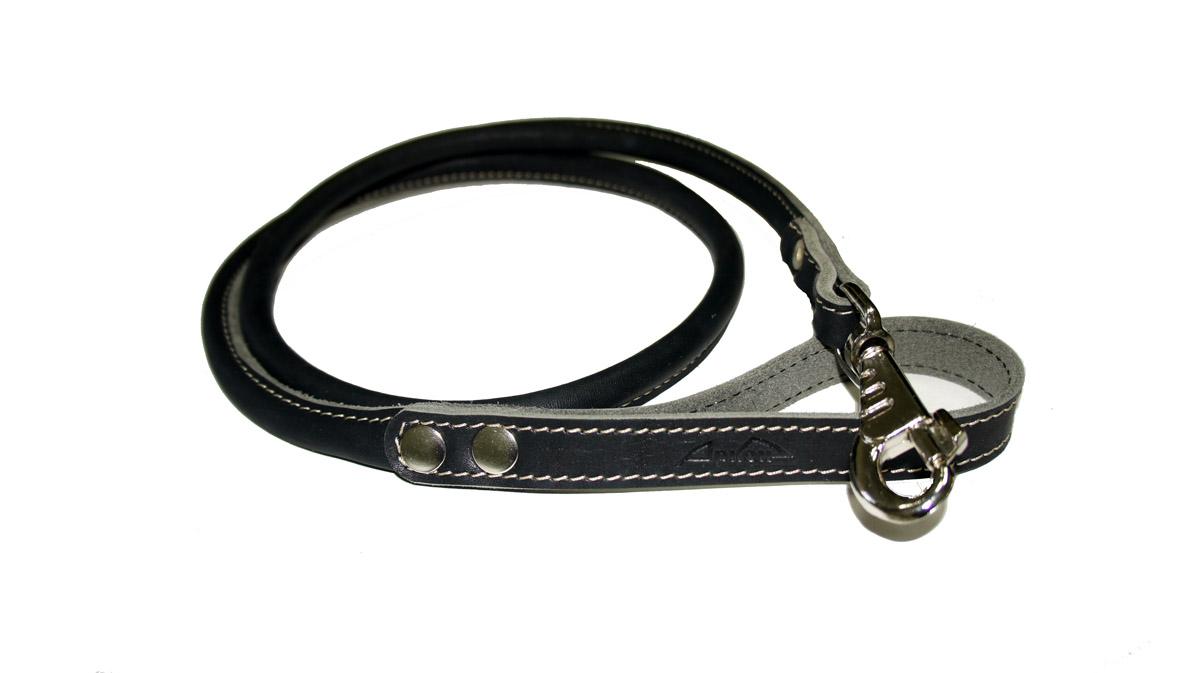 Поводок для собак Аркон Стандарт, цвет: черный, ширина 1,6 см, длина 140 см. пк0120710Круглый поводок для собак Аркон Стандарт изготовлен из высококачественной натуральной кожи. Карабин выполнен из легкого сверхпрочного сплава. Изделие отличается не только исключительной надежностью и удобством, но и привлекательным современным дизайном.Поводок - необходимый аксессуар для собаки. Ведь в опасных ситуациях именно он способен спасти жизнь вашему любимому питомцу. Иногда нужно ограничивать свободу своего четвероногого друга, чтобы защитить его или себя от неприятностей на прогулке. Длина поводка: 140 см.Ширина поводка: 1,6 см.