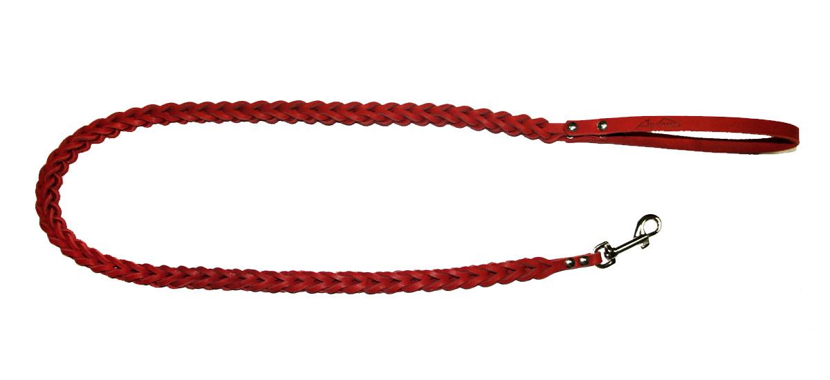 Поводок для собак Аркон Плетенка квадратная, цвет: красный, ширина 1,6 см, длина 120 смпл8квкрПоводок для собак Аркон Плетенка квадратная изготовлен из высококачественной натуральной кожи в виде объемного плетения. Карабин выполнен из легкого сверхпрочного сплава. Изделие отличается не только исключительной надежностью и удобством, но и привлекательным современным дизайном.Поводок - необходимый аксессуар для собаки. Ведь в опасных ситуациях именно он способен спасти жизнь вашему любимому питомцу. Иногда нужно ограничивать свободу своего четвероногого друга, чтобы защитить его или себя от неприятностей на прогулке. Длина поводка: 120 см.Ширина поводка: 1,6 см.
