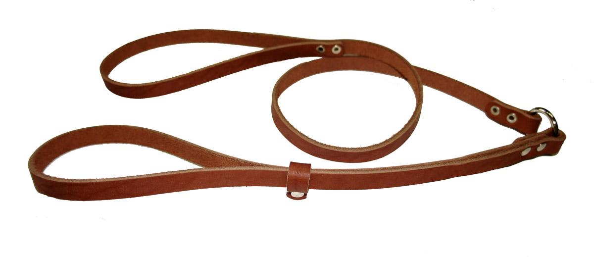 Ринговка для собак Аркон Стандарт, цвет: коньячный, ширина 1,2 см, длина 110 смо25кРинговка Аркон Стандарт - это специальный поводок, состоящий из петли с фиксатором и, собственно, поводка. Выполнена из натуральной кожи, фурнитура - из высококачественного металла. Ринговка является самым распространенным видом амуниции для показа собаки на выставке или занятий рингдрессурой. Ринговку подбирают в тон окраса собаки, если собака пятнистая - то в тон преобладающего окраса или, наоборот, контрастную. Ширина: 1,2 см.Длина: 110 см.