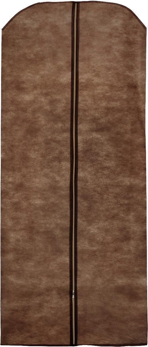 Чехол для одежды Eva, цвет: коричневый, 65 х 150 смЕ17_коричневыйЧехол для одежды Eva выполнен из полипропилена. Чехол обеспечивает вашей одежде надежную защиту от влажности, повреждений и грязи при транспортировке, от запыления при хранении. Изделие обладает водоотталкивающими свойствами, а также позволяет воздуху свободно поступать внутрь вещей, обеспечивая их кондиционирование. Закрывается на молнию. Рекомендуется только ручная стирка.