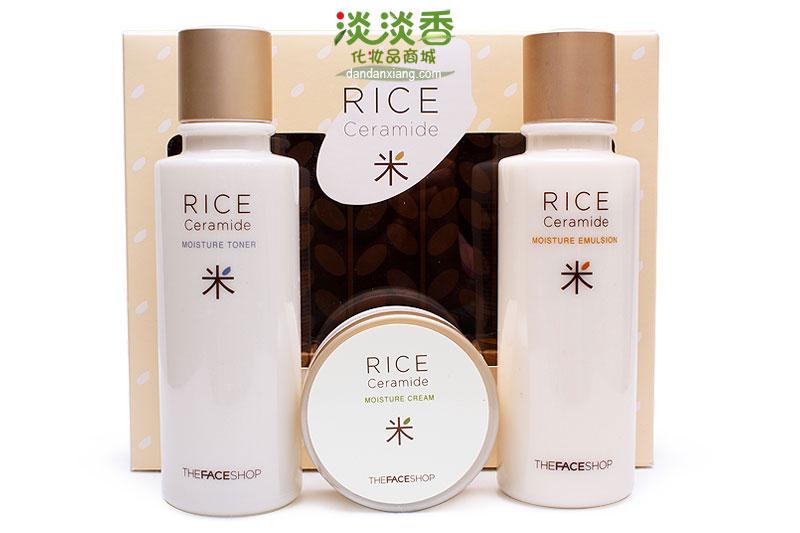The Face Shop Набор для лица (крем, тоник, эмульсия) RICE&CERAMIDE, 45х150х150 мл1214Увлажняющий набор с керамидами и экстрактом риса. Отлично насыщает кожу влагой, уменьшает сухость и шелушение кожи, сужает расширенные поры, выравнивает цвет лица. В набор входит тонер, эмульсия и крем для лица. Подходит для всех типов кожи, в особенности для сухой.