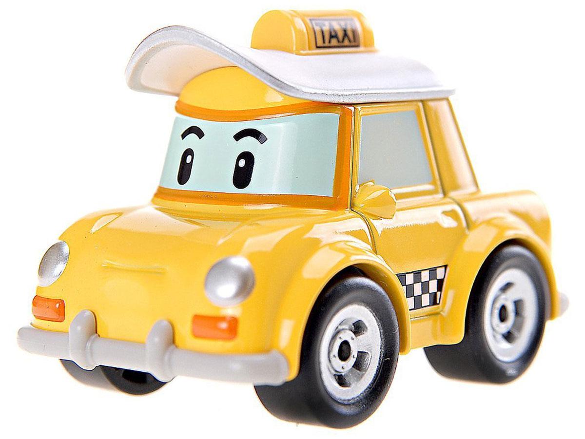"""Яркая игрушка Poli """"Машинка Кэп"""" непременно понравится вашему малышу. Она выполнена из металла с элементами пластика в виде такси Кэпа - персонажа популярного мультсериала """"Robocar Poli"""". Кэп оснащен колесиками со свободным ходом, позволяющими катать машинку. Благодаря небольшому размеру ребенок сможет взять игрушку с собой на прогулку, в поездку или в гости. Порадуйте своего малыша таким замечательным подарком!"""