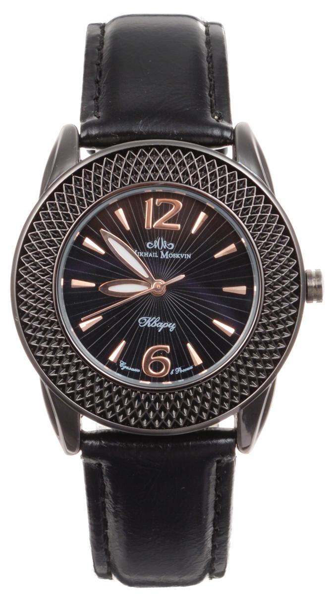 Zakazat.ru: Часы женские наручные Mikhail Moskvin Каприз, цвет: черный, золотой. 1147A11L2/1