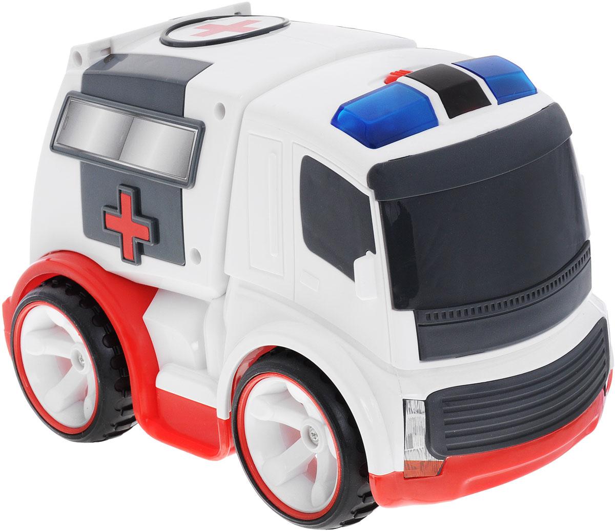 """Машинка на радиоуправлении Silverlit """"Скорая помощь"""" обязательно понравится вашему ребенку! Выполненная из безопасного прочного пластика модель может двигаться влево, вправо, назад и вперед. Задние дверцы машинки открываются. При движении у машинки загораются мигалки, раздается шум мотора и звук сирены. Радиоуправляемые игрушки развивают моторику ребенка, его логику, координацию движений и пространственное мышление. С помощью радиоуправляемой машинки """"Скорая помощь"""" от Silverlit малыш узнает многое о том, как важна работа врача и расширит свой словарный запас. Порадуйте своего малыша таким замечательным подарком! Для работы игрушки необходимы 3 батарейки типа АА (не входят в комплект). Для работы пульта управления необходима 3 батарейки типа ААА (не входят в комплект)."""