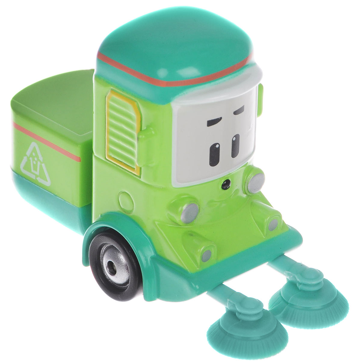 """Яркая игрушка Poli """"Машинка Клини"""" непременно понравится вашему малышу. Она выполнена из металла с элементами пластика в виде машинки для уборки мусора Клини - персонажа популярного мультсериала """"Robocar Poli"""". Клини оснащен колесиками со свободным ходом, позволяющими катать машинку. Благодаря небольшому размеру ребенок сможет взять игрушку с собой на прогулку, в поездку или в гости. Порадуйте своего малыша таким замечательным подарком!"""