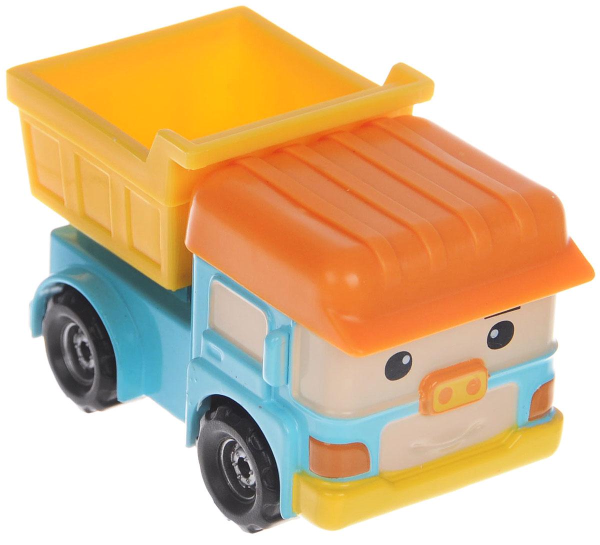 """Яркая игрушка Poli """"Самосвал Дампо"""" непременно понравится вашему малышу. Она выполнена из металла с элементами пластика в виде самосвала Дампо - персонажа популярного мультсериала """"Robocar Poli"""". Дампо оснащен откидывающимся кузовом и колесиками со свободным ходом, позволяющими катать машинку. Благодаря небольшому размеру ребенок сможет взять игрушку с собой на прогулку, в поездку или в гости. Порадуйте своего малыша таким замечательным подарком!"""