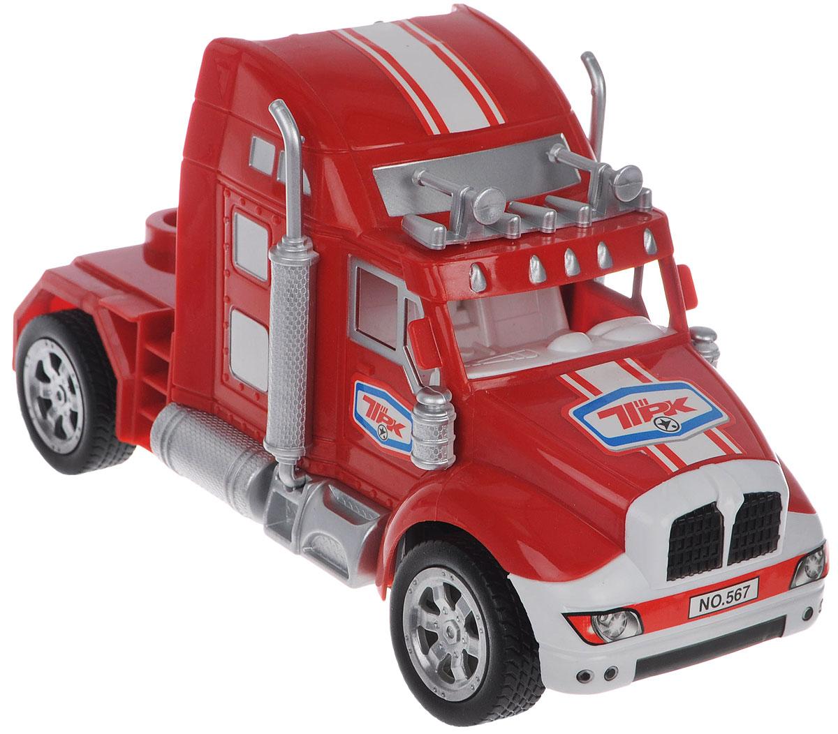 """Грузовик на радиоуправлении Junfa Toys """"Super Truck"""" со световыми эффектами обязательно привлечет внимание вашего ребенка. Машина при помощи пульта управления движется вперед, назад, направо, налево, назад налево, назад направо. Корпус грузовика выполнен из прочного пластика, шины - из резины. Хорошая проходимость модели позволяет преодолевать препятствия, играть не только дома, но и на улице. Такой грузовик станет отличным подарком любителю автомобилей! Радиоуправляемые игрушки способствуют развитию координации движений, моторики и ловкости. Пульт управления работает от 2 батареек типа АА (не входят в комплект). Машинка работает от 4 батареек типа АА (не входят в комплект)."""