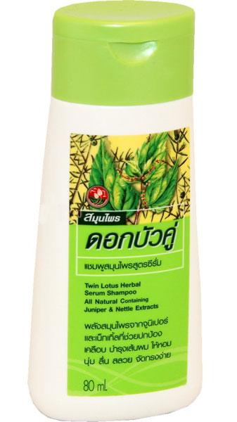 Twin Lotus Шампунь Herbal Serum (Сывороточный), 80мл.830190Содержат растительную формулу, которая глубоко увлажняет волосы на всем их протяжении и питает кожу головы. Экстракты Можжевельника и Крапивы защищают волосы от загрязнения, воздействия внешней среды, сечения кончиков. Восстанавливают баланс кожи головы. Делают волосы мягкими, шелковистыми и здоровыми
