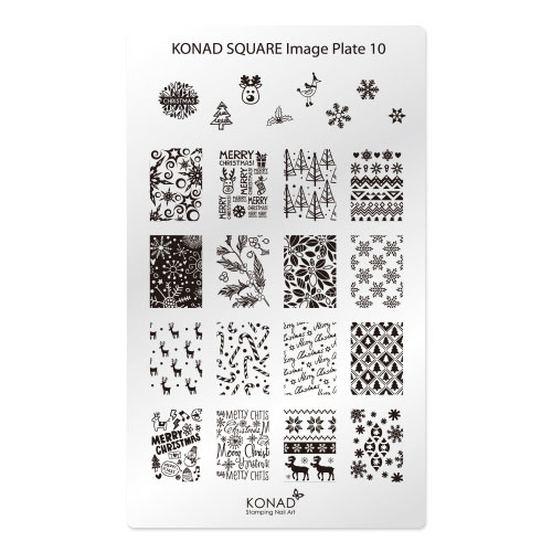 Konad Square Пластина для степинга Square Image Plate105010777139655Плитка для стемпинга. Больше узоров, больше творчества. Нанести лак на диск для стемпинга, убрать излишки скрапером, отпечатать на штамп и перенести на ноготь.