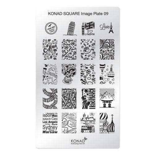 Konad Square Пластина для степинга Square Image Plate0928032022Плитка для стемпинга. Больше узоров, больше творчества. Нанести лак на диск для стемпинга, убрать излишки скрапером, отпечатать на штамп и перенести на ноготь.