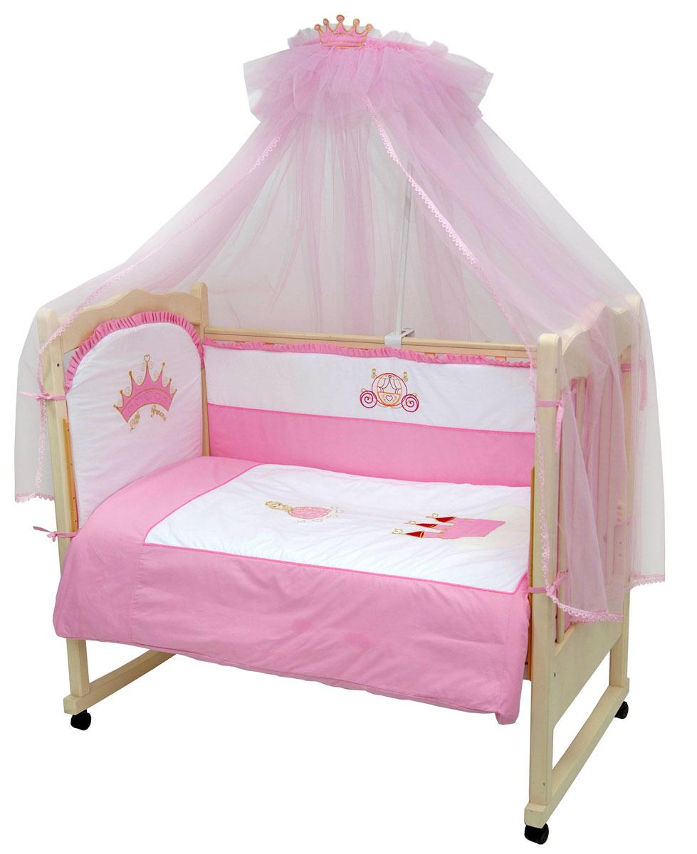 Топотушки Комплект белья для новорожденных Моя принцесса 3 предмета531-105Комплект белья для новорожденных Топотушки Моя принцесса выполнен в нежно-розовых тонах и украшен вышивкой. Комплект белья Моя принцесса создаст комфорт и уют в кроватке малышки и обеспечит ей крепкий и здоровый сон, а современный дизайн и цветовые сочетания помогут ребенку адаптироваться в новом для него мире. Комплект белья для новорожденных Топотушки Моя принцесса хорошо впишется в интерьер как детской комнаты, так и спальни родителей. Цветовые и дизайнерские решения - плоды совместных трудов европейских дизайнеров и российских технологов - делают внешний вид комплекта роскошным и незабываемым. Качество материала обеспечивает легкость стирки и долговечность. Комплект включает в себя наволочку 60 см х 40 см, пододеяльник 147 см х112 см, простыню на резинке 60 см х 120 см.