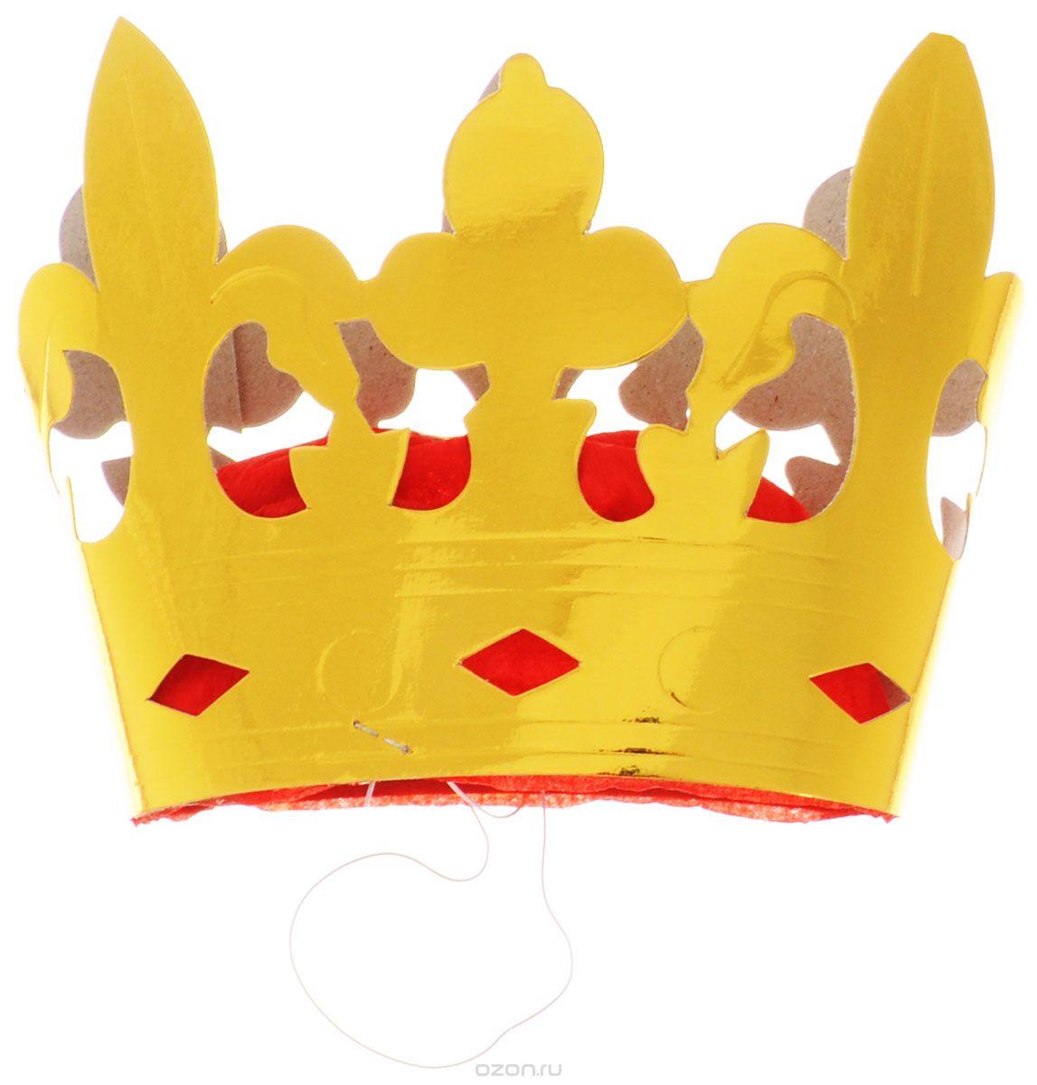 """У вас намечается веселая вечеринка или маскарад? Корона """"Action!"""" отлично дополнит ваш маскарадный костюм! Она выполнена из бумаги и фольгированного картона золотистого цвета. Корона обязательно внесет нотку задора и веселья в праздник и станет завершающим штрихом в создании праздничного образа! Веселое настроение и масса положительных эмоций вам будут обеспечены! В наборе 6 корон."""