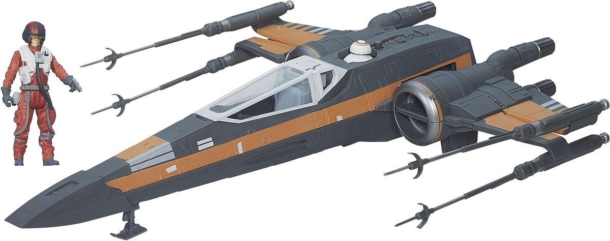 """Создайте свой галактический флот Звездных войн с космическим кораблем из нового эпизода саги. Космический корабль, посвященный одной из миссий, поставляется вместе с фигуркой пилота и огнестрельным оружием в комплекте. Космический корабль Star Wars """"Poe"""