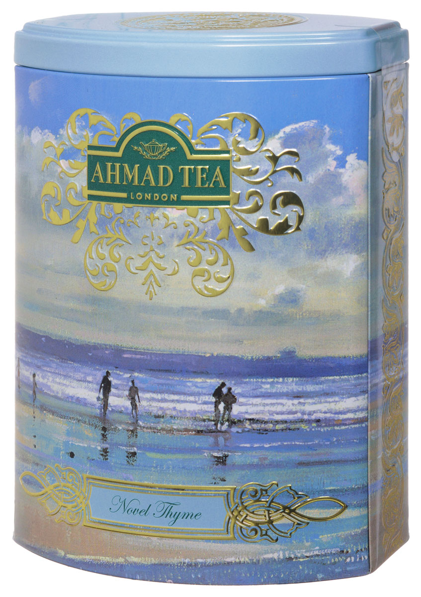 Ahmad Tea Novel Thyme зеленый листовой чай, 100 г (ж/б)1253N1Зеленый чай Ahmad Tea Novel Thyme - подлинный эликсир долголетия, который укрепит иммунитет и зарядит энергией. Ароматный дикий чабрец и душистая спелая клубника в деликатном сочетании с лучшим листовым зеленым чаем из Китая напомнит о летних жарких днях.