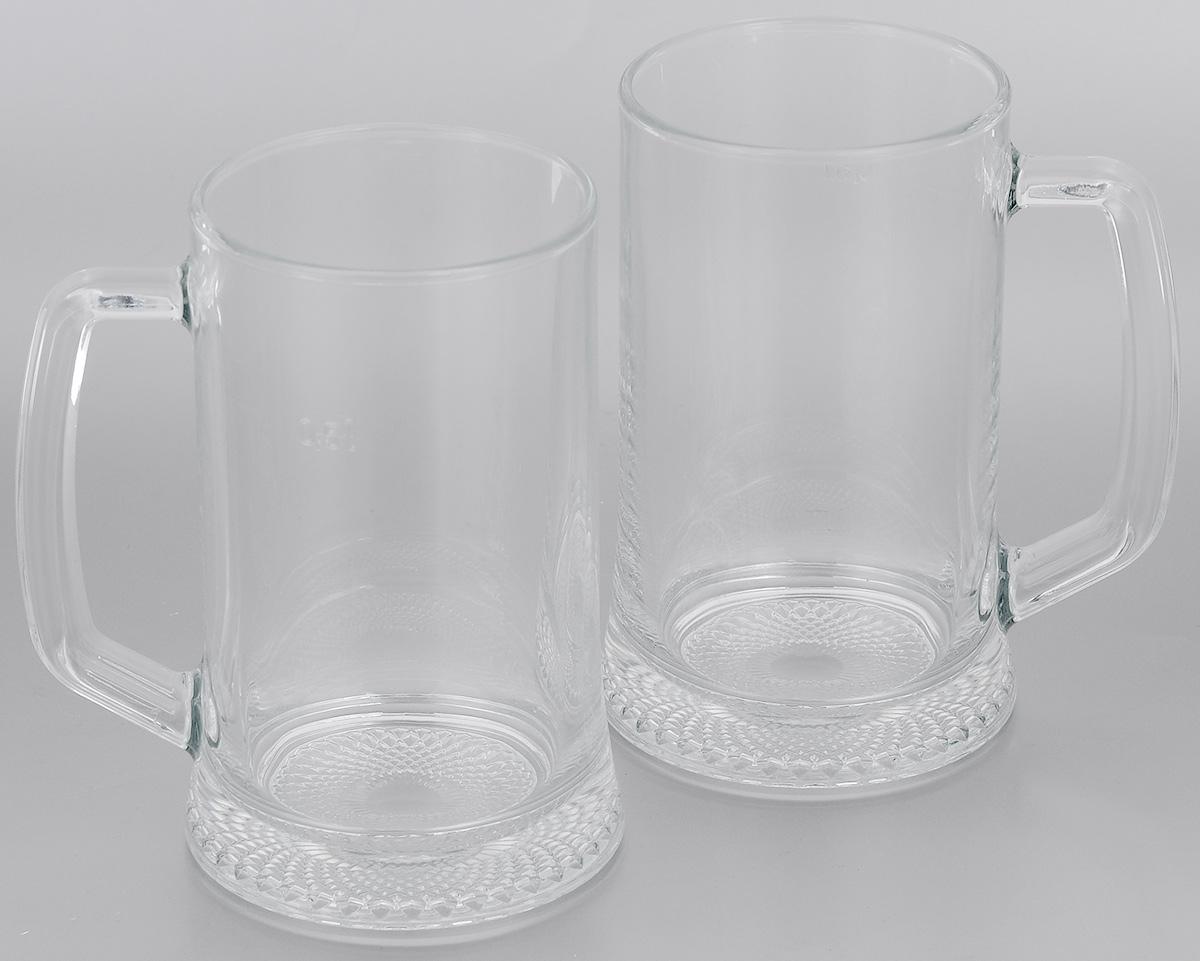 Набор кружек для пива Luminarc Dresden, 500 мл, 2 шт79 02471Набор Luminarc Dresden состоит из двух кружек, выполненных из натрий-кальций-силикатного стекла. Кружки предназначены для подачи пива. Они сочетают в себе элегантный дизайн и функциональность. Благодаря такому набору пить напитки будет еще приятнее.Набор кружек для пива Luminarc Dresden идеально подойдет для сервировки стола и станет отличным подарком к любому празднику. Можно мыть в посудомоечной машине.Диаметр кружек по верхнему краю: 8,5 см.Диаметр дна: 10 см.