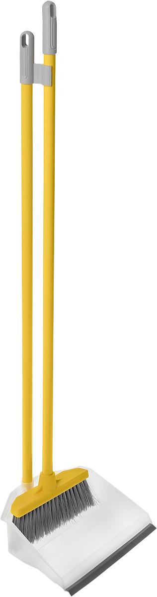 Набор для уборки Fratelli RE Regina: совок и щетка, цвет: желтый, серый11703-A_желтый, серыйНабор для уборки Fratelli RE Regina включает в себя совок и щетку, выполненные из высококачественной стали и прочного пластика. Эластичный ворс на щетке не оставит от грязи и следа, а благодаря резиновому краю на совке, грязь и мусор будут легко сметаться на него. Для дополнительного удобства совок и щетка снабжены специальным креплением, с помощью которого, вложив щетку в совок, их можно разместить в любом месте. Размер совка: 24 см х 20 см х 6,5 см. Длина ручки совка: 74 см. Размер щетки: 20 см х 10 см х 3,5 см. Длина ручки щетки: 75 см.