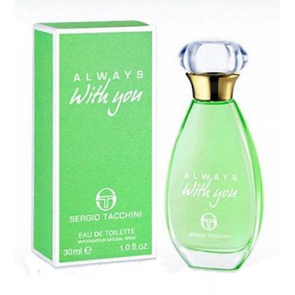Sergio Tacchini Always With You Woman Туалетная вода, 30 мл1301210Древесные, цитрусовые. Бергамот, лимон, фруктовые ноты, яблоко, кедр, мускус, сандаловое дерево, ландыш, роза.