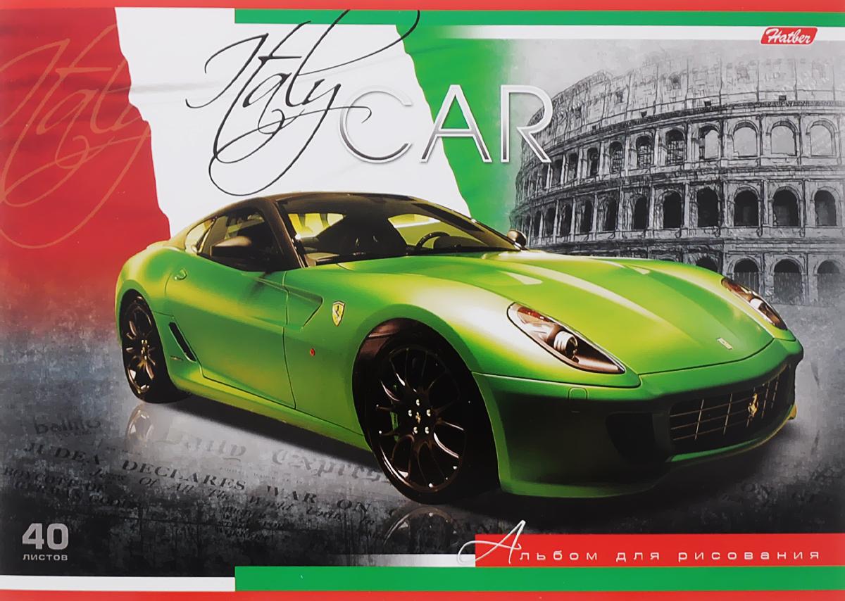 Hatber Альбом для рисования Италия 40 листов72523WDАльбом для рисования Hatber Италия непременно порадует маленького художника и вдохновит его на творчество. Альбом изготовлен из белоснежной бумаги с яркой обложкой из плотного картона, оформленной изображением итальянского спортивного автомобиля марки Ferrari. Внутренний блок альбома, соединенный металлическими скрепками, состоит из 40 листов. Высокое качество бумаги позволяет рисовать в альбоме карандашами, фломастерами, акварельными и гуашевыми красками.