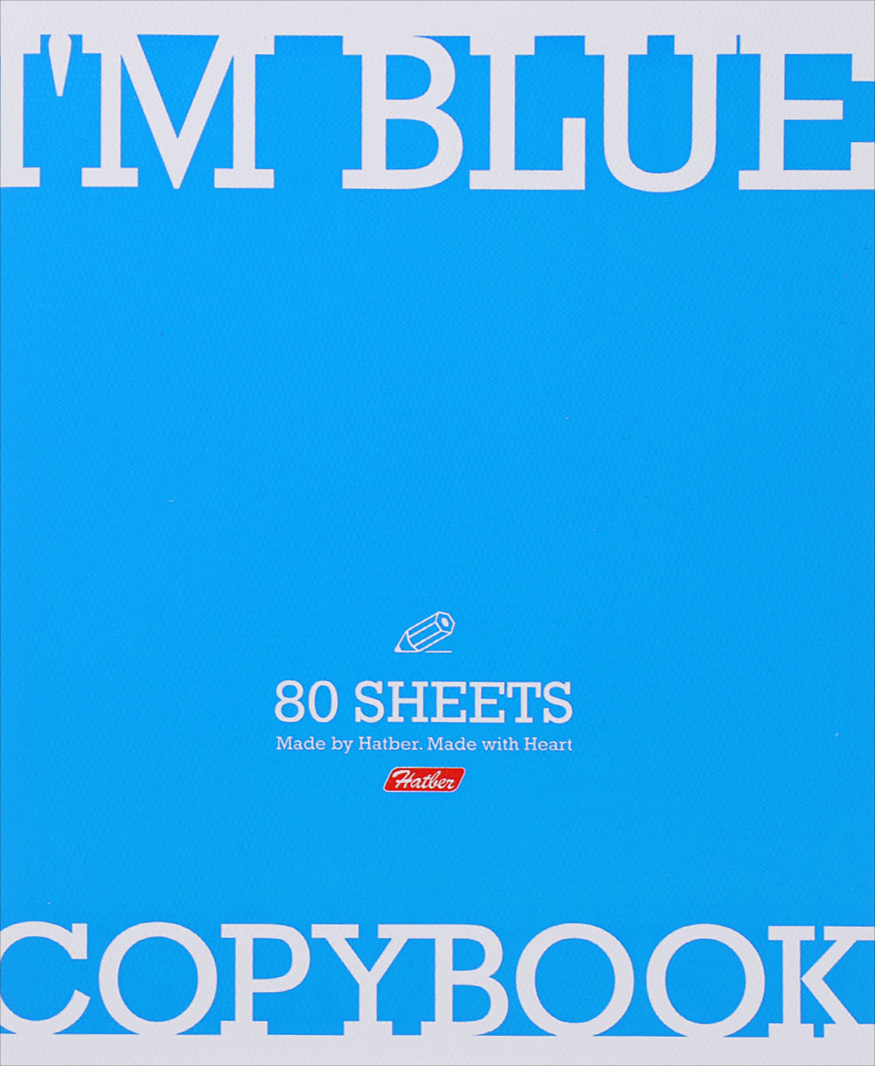 Hatber Тетрадь Im Blue 80 листов в клетку80Т5тB1_13348Тетрадь Hatber Im Blue обязательно подойдет как школьнику, так и студенту.Обложка тетради выполнена из картона голубого цвета. Внутренний блок состоит из 80 листов белой бумаги. Стандартная линовка в голубую клетку с полями. Листы тетради соединены металлическими скобами.