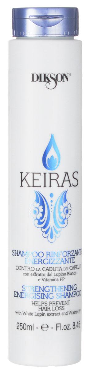 Dikson Укрепляющий шампунь против выпадения волос Keiras Shampoo Rinforzante Energizzante 250 млMP59.4DРекомендован не только при проблеме выпадения волос, но также для очень тонких, ослабленных, пушковых и детских волос. Стимулирует кровообращение и клеточный метаболизм, благодаря витамину PP помогает остановить выпадение волос.