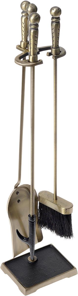 Набор для камина RealFlame, цвет: бронзовый, 4 предметаEF-BC008Набор для камина RealFlame состоит из совка, кочерги и щетки, которые компактно размещаются на специальной подставке. Предметы набора выполнены из высококачественного металла. Рукоятки оснащены массивными металлическими вставками для более удобного использования и подвешивания на подставку. Благодаря такому набору для камина вы сохраните чистоту в помещении, а оригинальный дизайн предметов набора поможет вам создать уютный интерьер.Средняя длина предметов набора: 62 см. Размер подставки: 74 см х 16 см х 12 см.