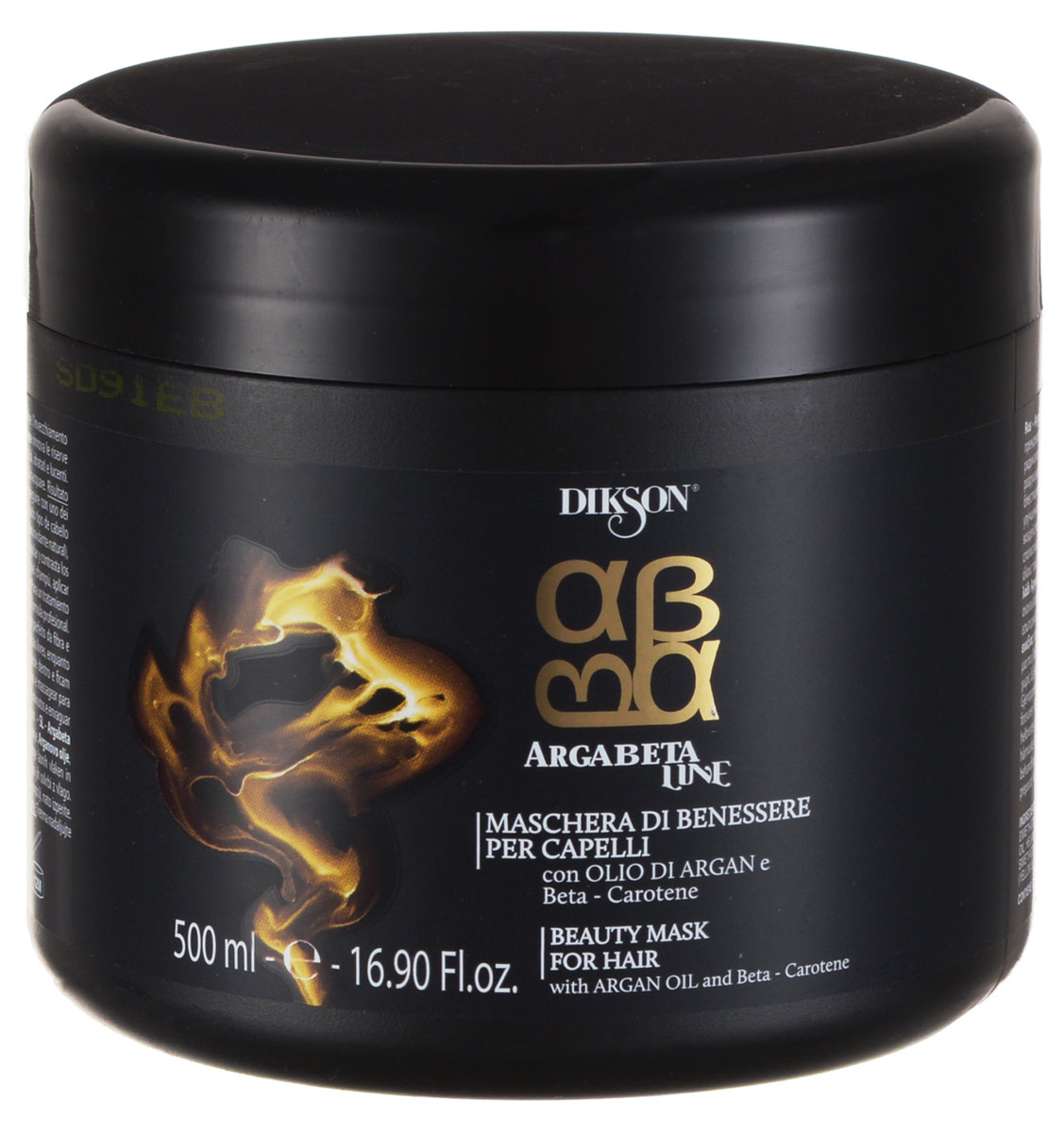 Dikson ArgaBeta Интенсивно восстанавливающая и питательная маска с маслом Арганы и Бета-каротином Beauty Mask 500 млFS-00897Интенсивно восстанавливающая маска ArgaBeta Beauty Mask от Dikson подходит для всех типов волос, укрепляет и восстанавливает структуру волосяных волокон, не утяжеляя их, и обладает омолаживающим эффектом. Масло Арганы, содержащее витамин Е (натуральный антиоксидант) предохраняет волосы от действия свободных радикалов.Бета-каротин энергетически насыщает капиллярные волокна и препятствует разрушающему влиянию ультрафиолетового излучения.Аминокислоты морского происхождения увлажняют, защищают и укрепляют волосы, придавая им эластичность и объем.Содержание активных компонентов: Бета-каротин, масло Арганы, токоферол, арахисовое масло.
