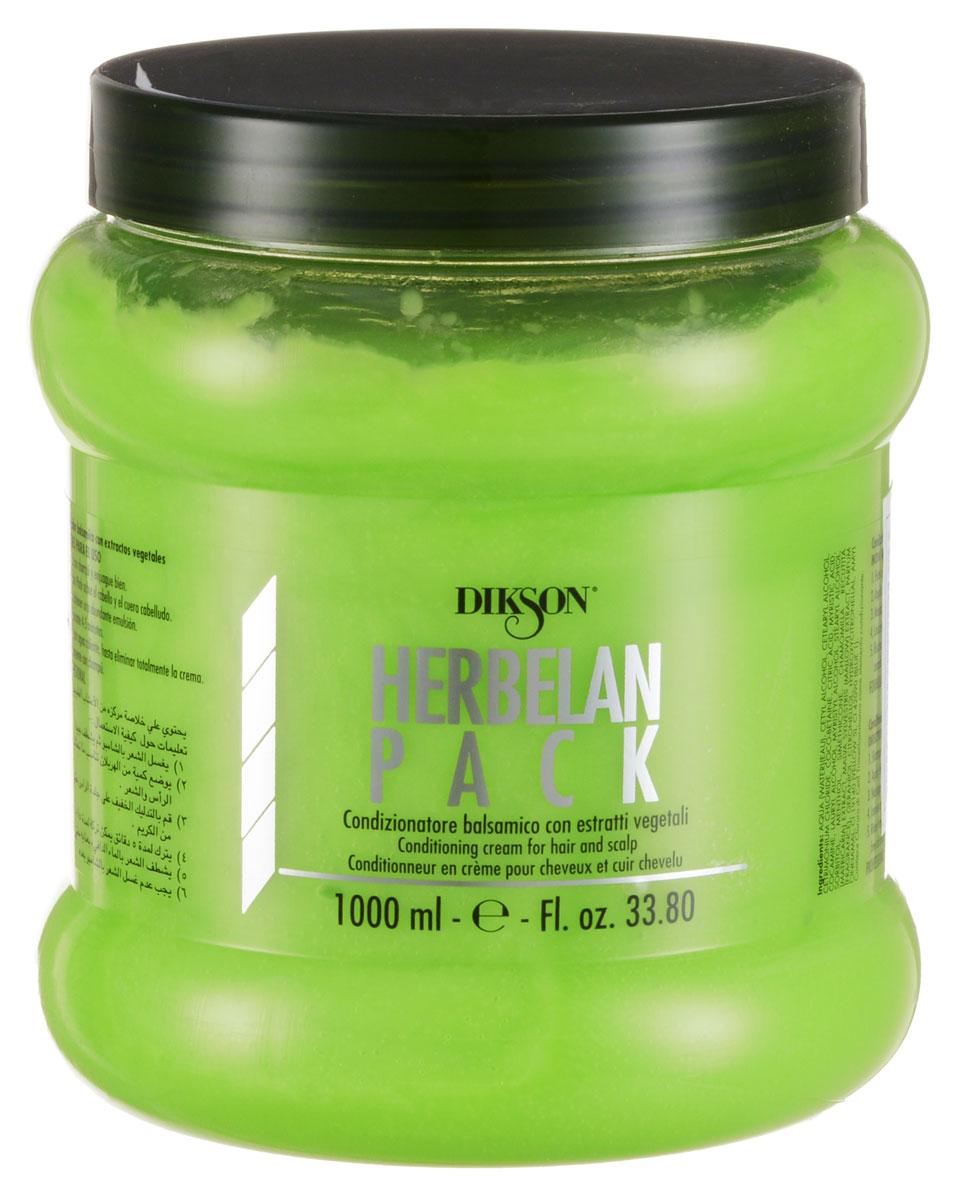 Dikson Растительный бальзам с ментолом, маслами ромашки и мальвы Herbelan Pack 1000 млFS-00897Dikson Herbelan Pack по праву можно считать одним из самых эффективных средств, которые есть в линейке Dikson. Травяная кислота, которая лежит в его основе, способствует нейтрализации вялотекущего окисления, наступающего вследствие химических обработок, в том числе и осветления.Рекомендовано к применению в качестве основного средства для ухода за осветленными и окрашенными волосами. Травяная кислота позволяет окрашенным волосам сохранять свой блеск. Подходит волос для всех типов.В составе растительного бальзама содержатся следующие активные вещества:Эфирные масла мальвы и ромашки обеспечивают противовоспалительный и успокаивающий эффект.Ментол оказывает дезинфицирующее и оживляющее действие, охлаждает кожу головы, активизирует ее кровоснабжение.