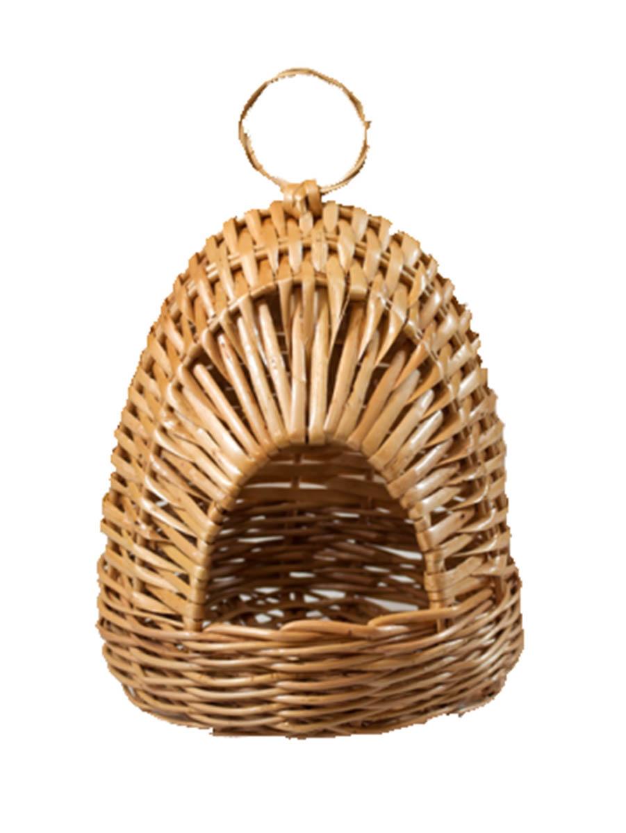 Гнездо из лозы для птиц №1 14х14х17АРТ 304Домик, плетеный из лозы. Ручная работа. Натуральный ивовый прут.