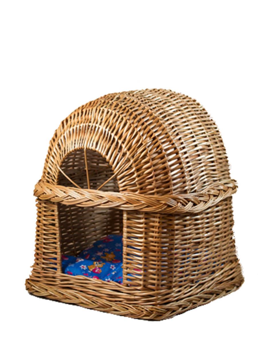 Домик из лозы Будка №2 37х37х452182Домик, плетеный из лозы. Ручная работа. Натуральный ивовый прут.