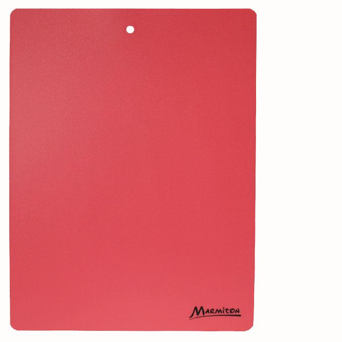 Доска разделочная Marmiton, гибкая, цвет: красный, 38 х 28 см17028_ красныйГибкая разделочная доска Marmiton прекрасно подходит для разделки всех видов пищевых продуктов. Изготовлена из гибкого одноцветного пластика для удобства переноски и высыпания. Изделие оснащено отверстием для подвешивания на крючок.Можно мыть в посудомоечной машине.