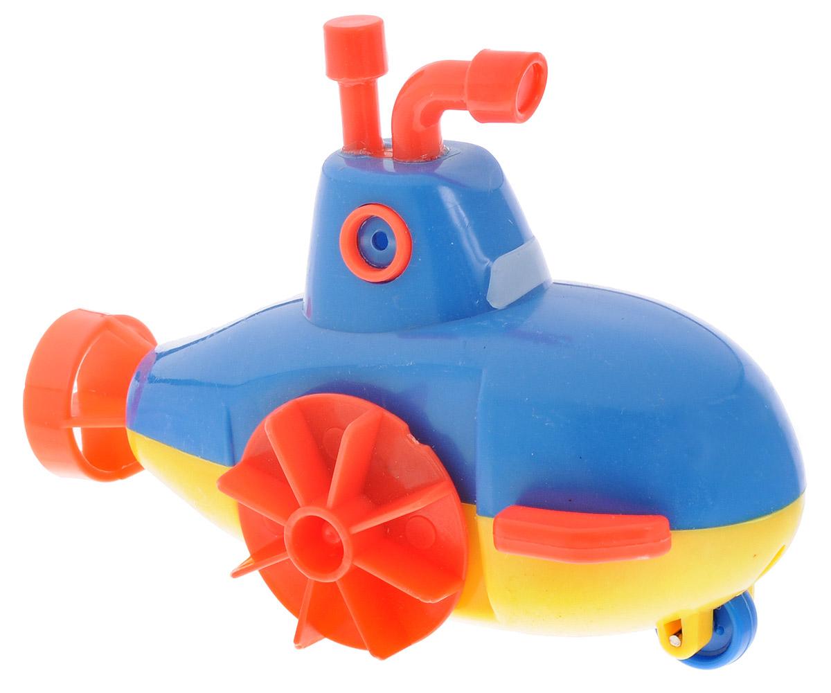1TOY Игрушка для ванной Буль-Буль Подводная лодка цвет синий жирафики развивающая игрушка подвеска крабик звук буль буль