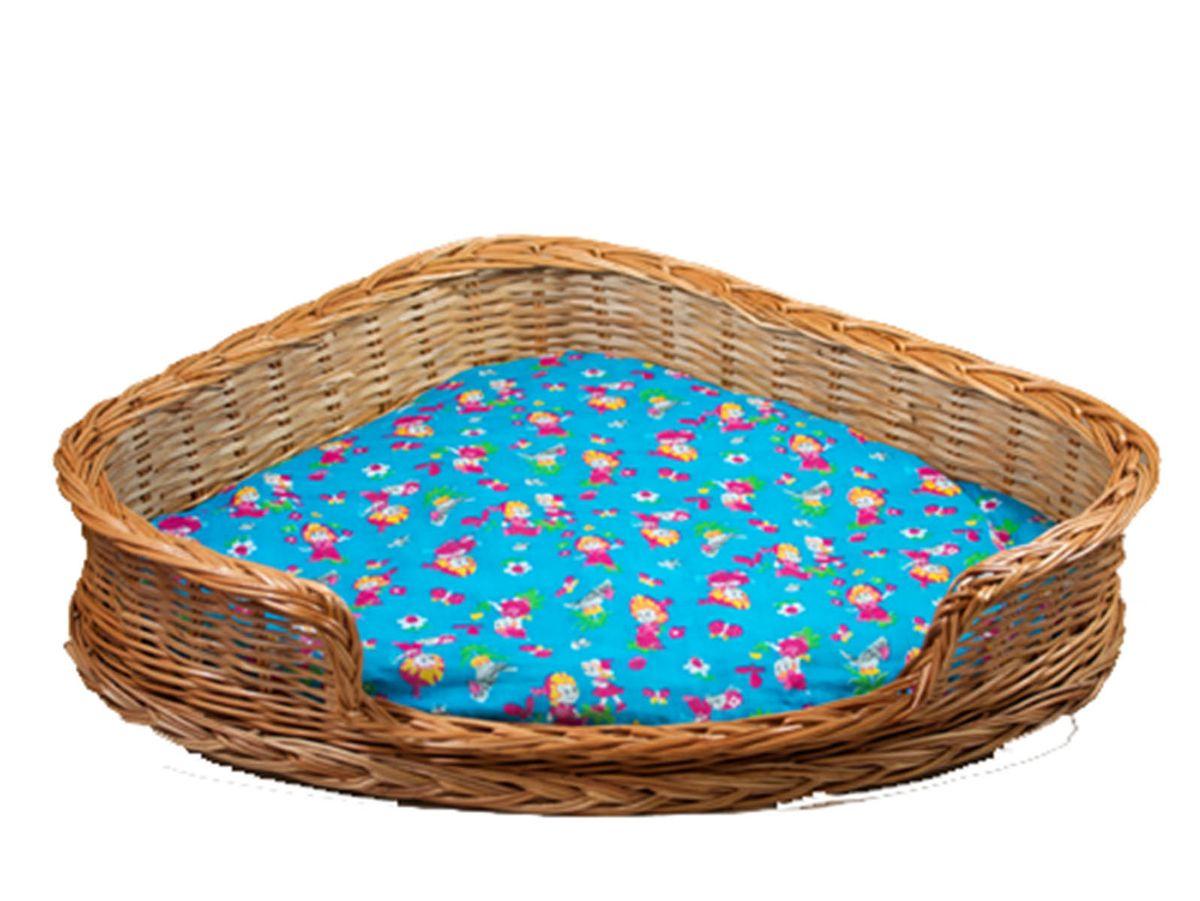 Лежак для животных Меридиан, из лозы, угловой, №2, 66 х 50 х 15 смBP228_сиреневыйДомик, плетеный из лозы. Ручная работа. Натуральный ивовый прут.
