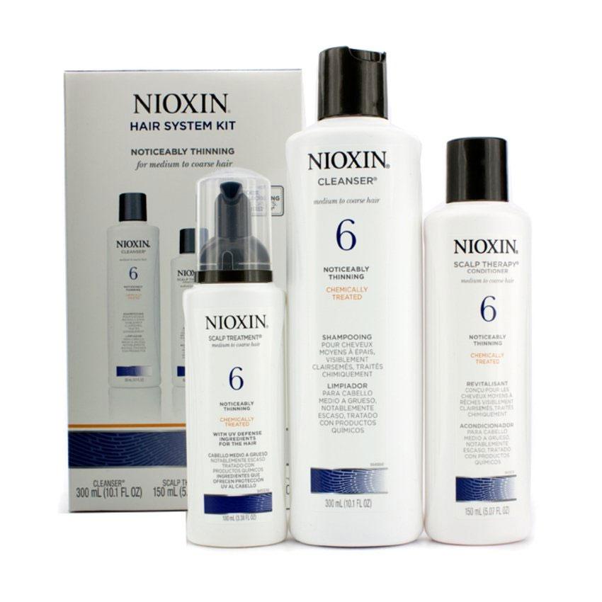 Nioxin System Набор (Система 6) 6 Kit 150 мл+150 мл+40 мл81274211В набор входят:Шампунь Очищение 150 мл - придающий объём очистительКондиционер Увлажнение 150 мл - придающий объём кондиционерМаска Питание 40 мл - придающая объём и питающая волосы маскаВсе средства обеспечивают деликатный уход за волосами и кожей головы, питая их и защищая от неблагоприятных воздействий окружающей среды.