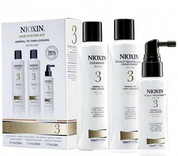 Nioxin System Набор (Система 3) 3 Kit 150 мл+150 мл+40 млE0640863В набор Nioxin System 3 Kit входят: шампунь для очищения, который придает объем (150 мл); кондиционер для увлажнения и объема (150 мл); маска для питания волос (50 мл).