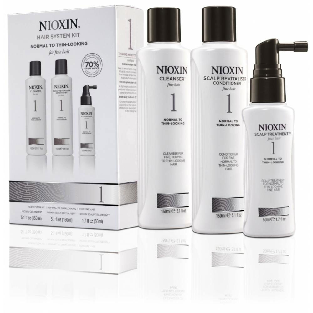 Nioxin System Набор (Система 1) 1 Kit 150 мл+150 мл+50 мл