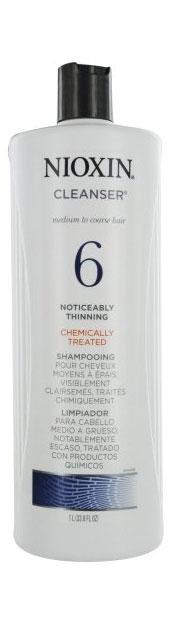 Nioxin Cleanser Очищающий шампунь (Система 6) System 6, 1000 млFS-00897Шампунь очищающий Система 6 предназначен для жестких волос, которые склонны к выпадению. Средство бережно очищает и смягчает кожу головы, снабжая ее полезными компонентами. Таким образом, шампунь от Ниоксин питает корни волос и предотвращает их выпадение. Также средство освежает кожу головы. После применения шампуня от Nioxin волосы становятся мягкими и здоровыми, они выглядят пластичными и блестящими, а кожа головы защищена от внешнего влияния.