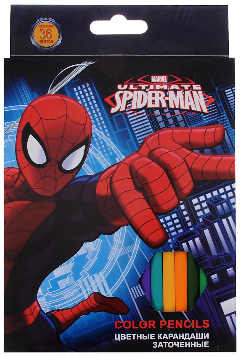 Ultimate Spider-Man Набор цветных карандашей 36 цветов72523WDЦветные карандаши Ultimate Spider-Man откроют юным художникам новые горизонты для творчества, а также помогут отлично развить мелкую моторику рук, цветовое восприятие, фантазию и воображение. Классический шестигранный корпус изготовлен из натуральной древесины, гладкость которого обеспечена многослойной покраской. Каждый карандаш украшен позолоченной эмблемой Человека-Паука. Карандаши удобно держать в руках, а мягкий грифель не требует сильного нажима и легко стирается ластиком. В комплект входят 36 заточенных карандашей ярких насыщенных цветов.